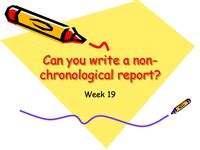 Writing a Non-Chronological Report and Worksheet Activity